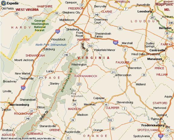 Rappahannock County Map